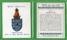 Tobacco cigarette cards set Arms of the British Empire